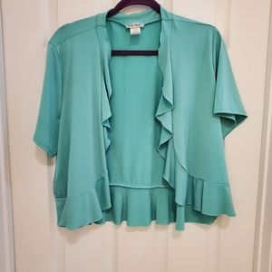 🌻 Turquoise Shrug Belle Amie Plus Size 3X